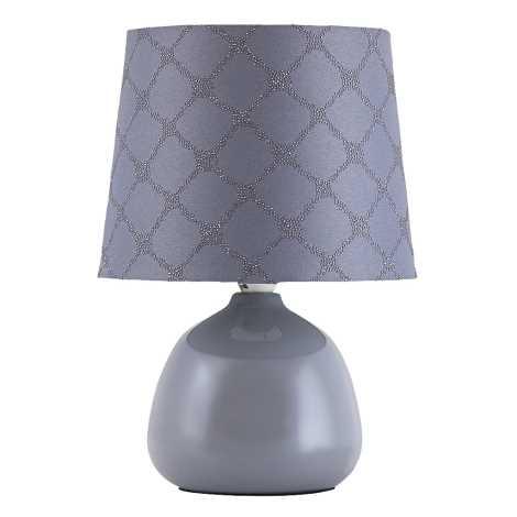 Rabalux - Stolní lampa E14/40W šedá