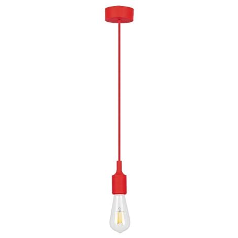 Rabalux - Závěsné svítidlo E27/40W červená