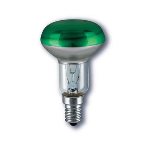 Reflektorová žárovka E14/40W CONC R50 GREEN