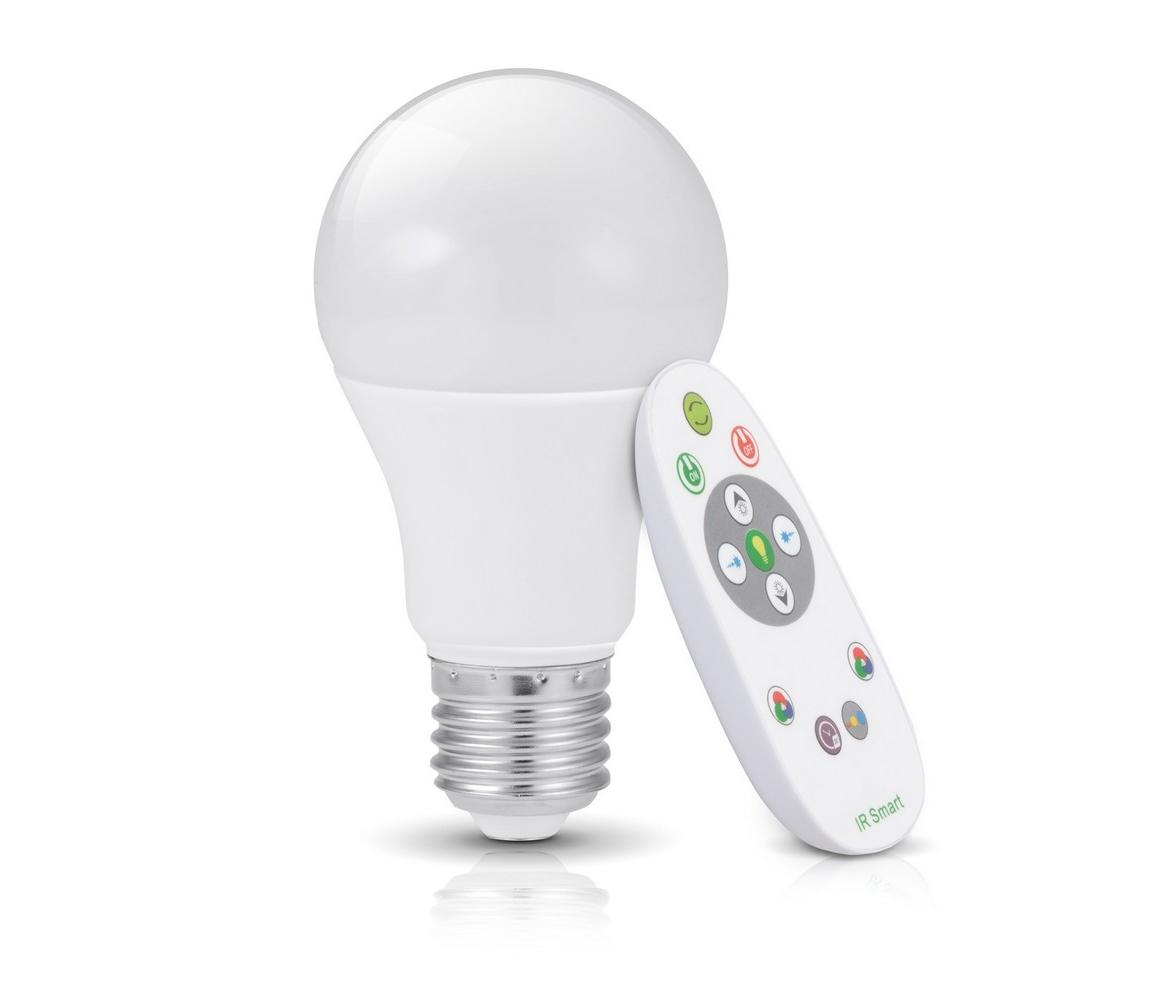 Kobi RGB LED Stmívatelná žárovka GS s dálkovým ovladačem E27/7W/230V