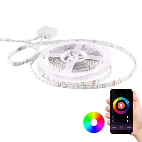 RGB LED Stmívatelný pásek Wi-fi + hudební funkce LED/16W/230V 5 m Tuya