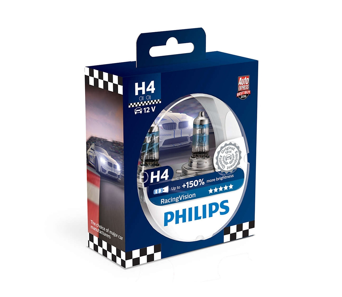 Philips SADA 2x Autožárovka Philips RACINGVISION 12342RVS2 H4 P43t-38/55W/12V P2270
