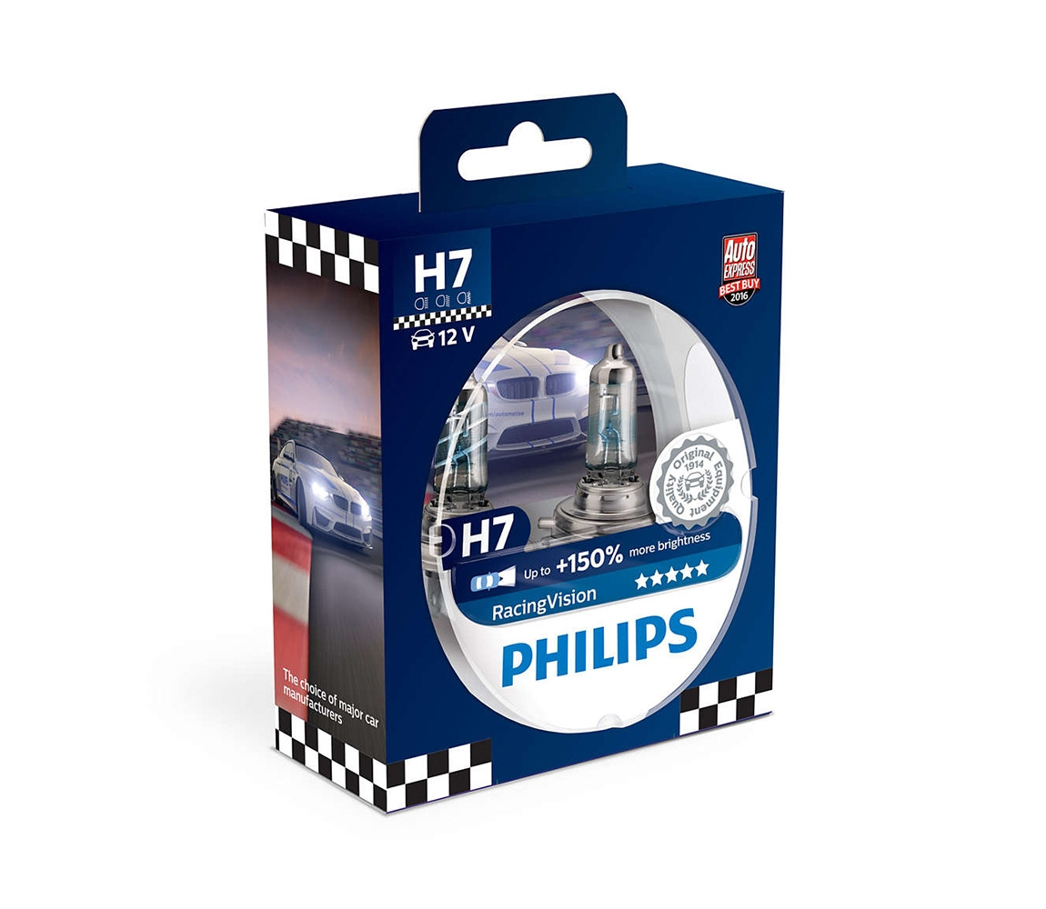 Philips SADA 2x Autožárovka Philips RACINGVISION 12972RVS2 H7 PX26d/55W/12V