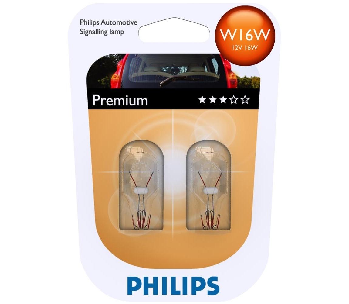 Philips SADA 2x Autožárovka Philips VISION 12067B2 W16W W2,1x9,5d/16W/12V