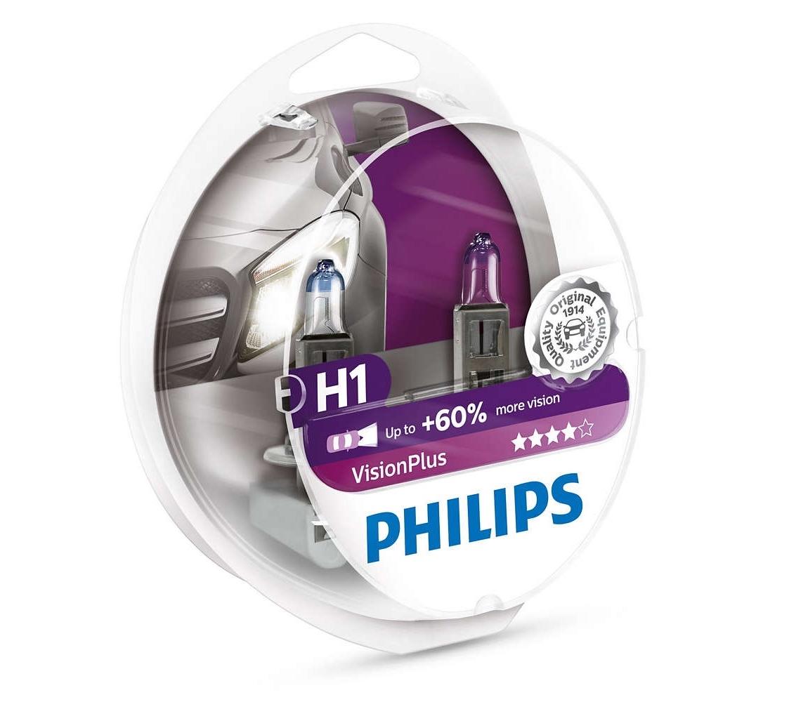 Philips SADA 2x Autožárovka Philips VISION PLUS 12258VPS2 H1 P14,5s/55W/12V