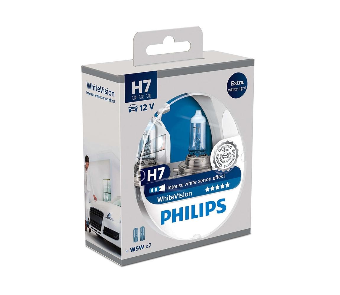 Philips SADA 2x Autožárovka Philips WHITEVISION 12972WHVSM H7 PX26d/55W/12V