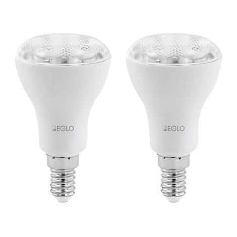 SADA 2x E14/9W/230V Úsporná reflektorová žárovka EGLO 12426 - 2700K