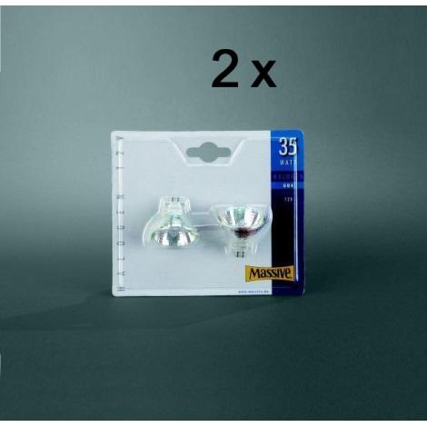 SADA 2x Halogenová žárovka MR11/35W čirá