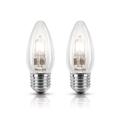 SADA 2x Halogenová žárovka Philips E27/42W/230V - ECO CLASSIC