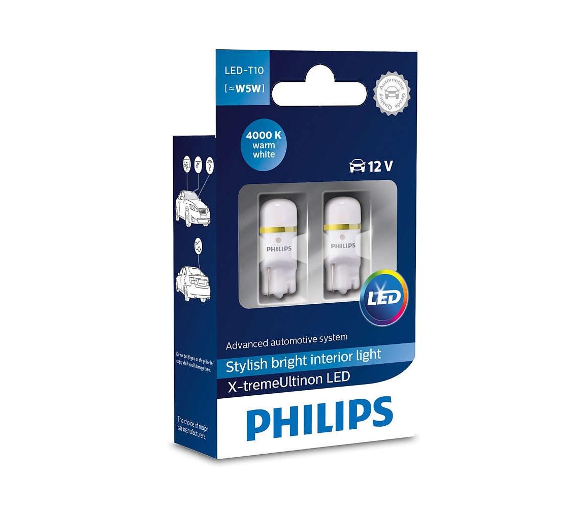 Philips SADA 2x LED Autožárovka Philips X-TREMEULTION 127994000KX2 T10 W2,1x9,5d/0,8W/12V P2279