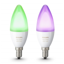 SADA 2x LED RGB Stmívatelná žárovka Philips HUE WHITE AND COLOR AMBIANCE E14/6W/230V