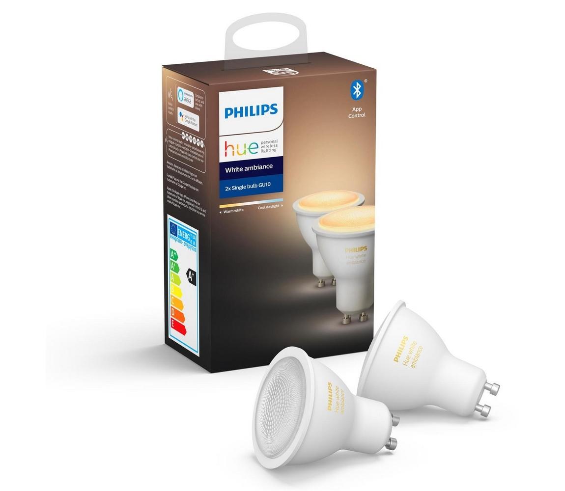 Philips SADA 2x LED Stmívatelná žárovka Philips HUE WHITE AMBIANCE GU10/5,5W/230V