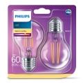 SADA 2x LED žárovka Philips E27/7W/230V 2700K