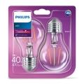 SADA 2x LED Žárovka VINTAGE Philips E27/4W/230V 2700K