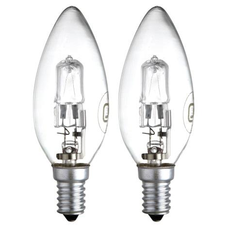 Sada 2x Stmívatelná halogenová žárovka E14/28W - GLOBO 11428-2A