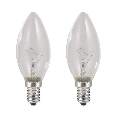 SADA 2x Stmívatelná žárovka E14/40W/230V svíčka