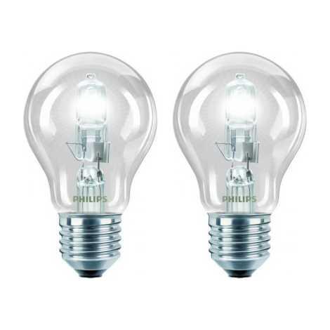 SADA 2x Stmívatelná žárovka Philips E27/42W/230V ECO CLASSIC