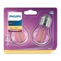 SADA 2xLED Žárovka VINTAGE E27/4W/230V 2700K - Philips