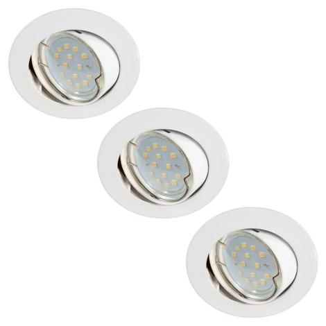 SADA 3x LED koupelnové svítidlo 3xLED-GU10/3W/230V + žárovky 3xGU10/50W ZDARMA