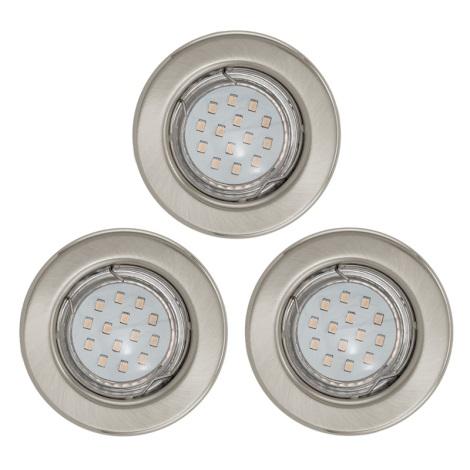 SADA 3x LED podhledové svítidlo 1xGU10/3W/230V IGOA chrom mat