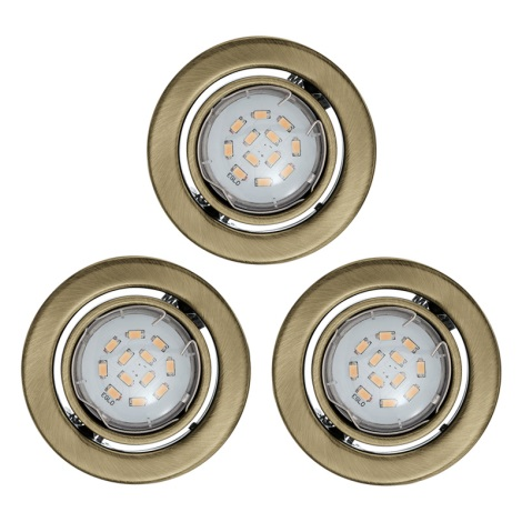 SADA 3x LED podhledové svítidlo 1xGU10/5W/230V IGOA bronz
