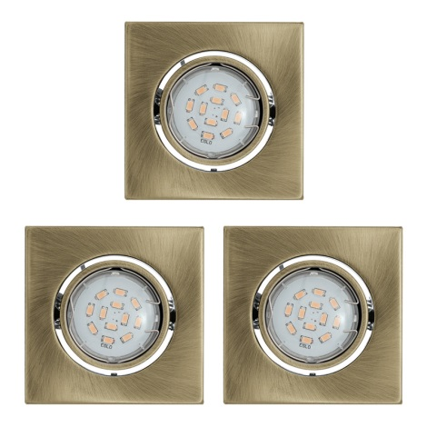 SADA 3x LED podhledové svítidlo 3xGU10/5W/230V IGOA bronz