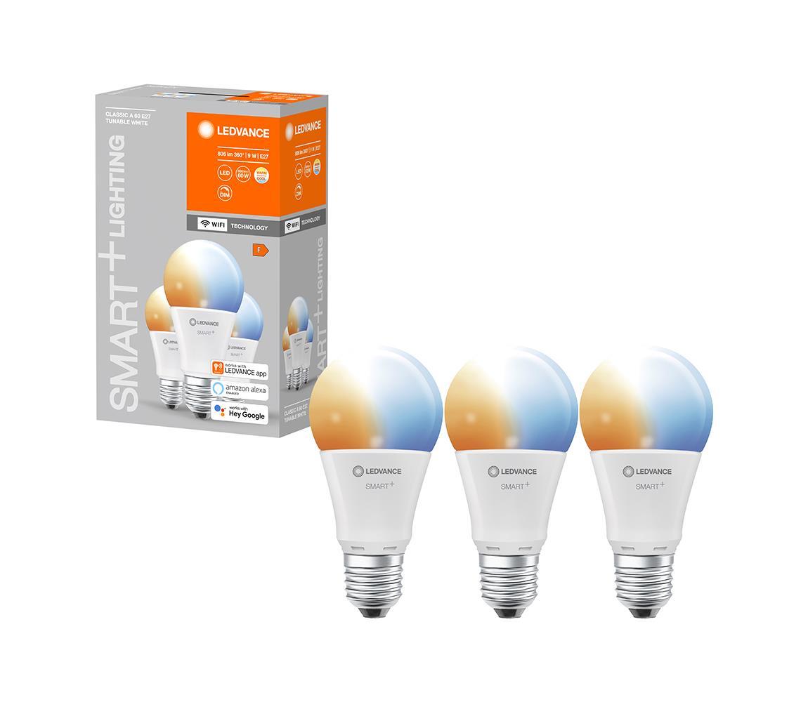 Ledvance SADA 3x LED Stmívatelná žárovka SMART+ E27/9W/230V 2700K