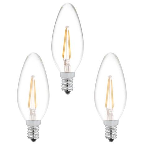 SADA 3x LED žárovka 3xE14/2W/230V