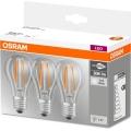 SADA 3x LED Žárovka BASE VINTAGE E27/6W/230V 4000K – Osram