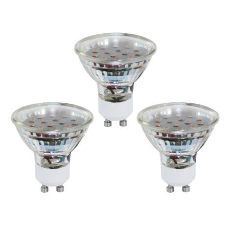 SADA 3x LED žárovka GU10/3W/230V - EGLO 10699