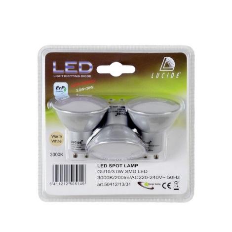 SADA 3x LED žárovka GU10/3W/230V - Lucide 50412/13/31