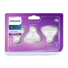 SADA 3x LED Žárovka GU5,3/MR16/8,2W/12V 4000K - Philips