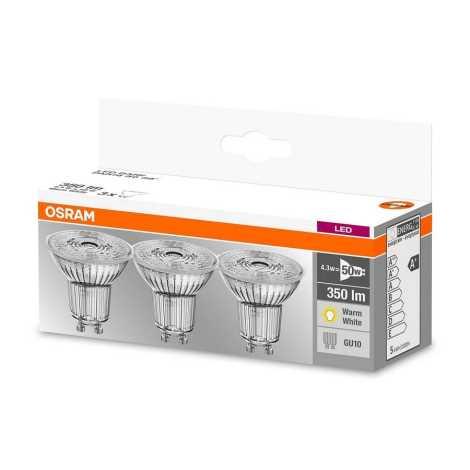 SADA 3x LED Žárovka PAR16 GU10/4,3W/230V 2700K - Osram
