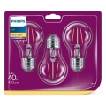 SADA 3x LED Žárovka VINTAGE Philips E27/4,3W/230V