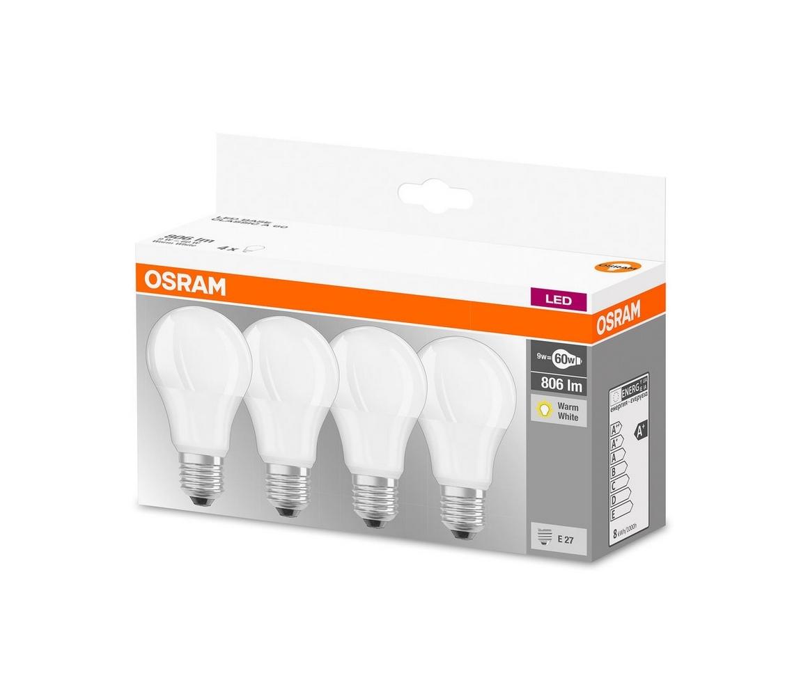 Osram SADA 4x LED Žárovka A60 E27/9W/230V 2700K