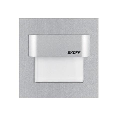 Skoff 02-01-02-01-0177 - LED schodišťové svítidlo TANGO 0,8W/10V hliník/bílé