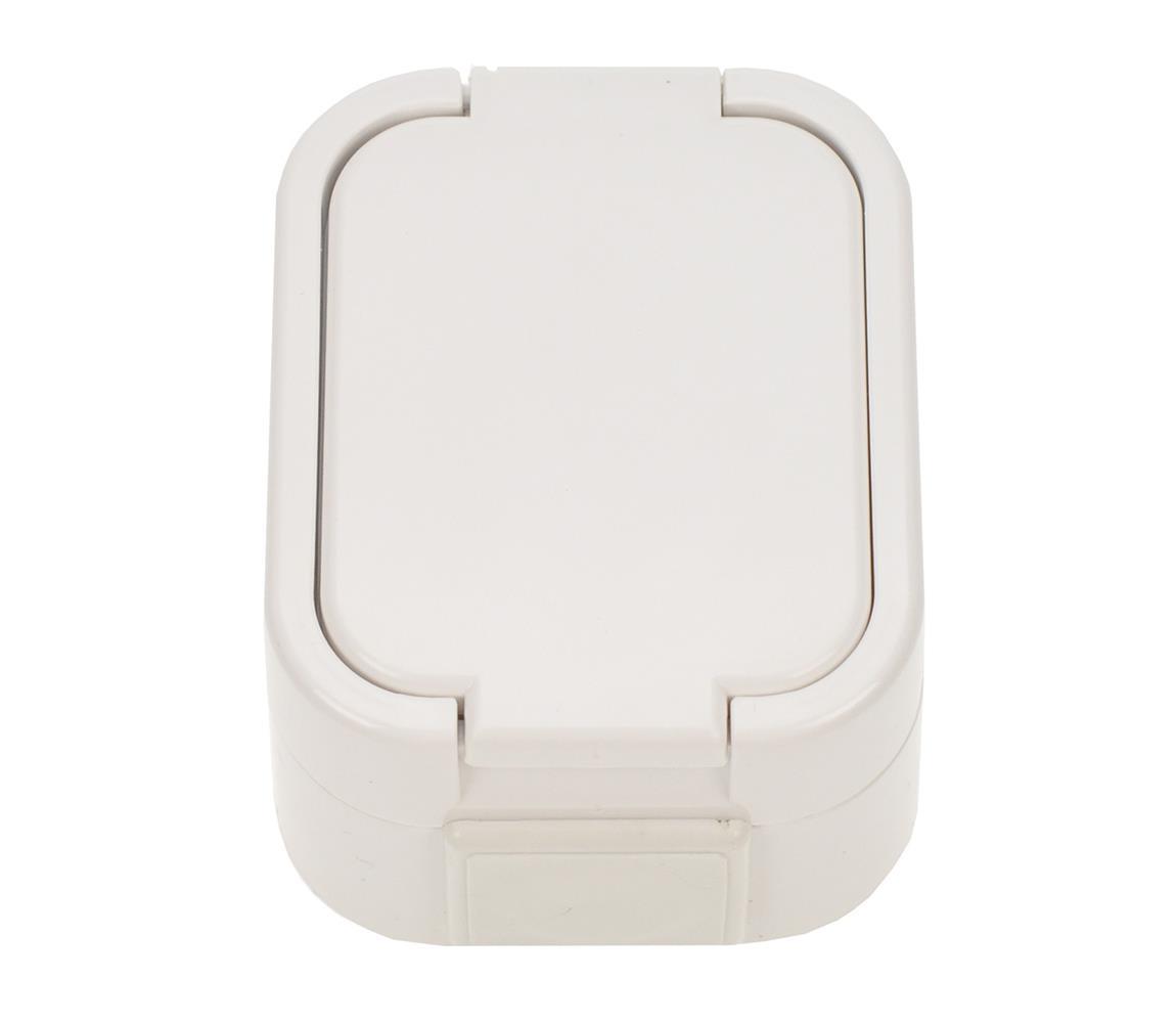 Solight zásuvka do vlhka s víčkem, 5D06