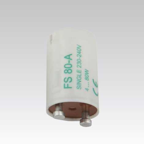 Startér doutnavkový pro zářivky SINGLE 4-80W 230V