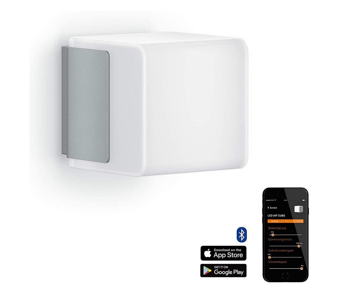 Steinel 055523 senzorové svítidlo L 835 LED iHF Cubo stříbrná 9,5W IP44