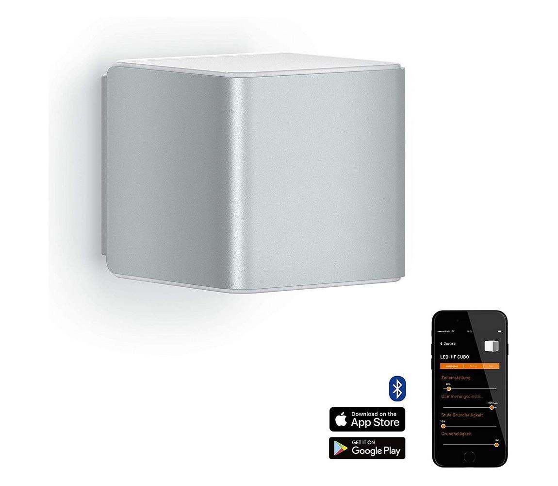 Steinel 055547 senzorové svítidlo L 840 LED iHF Cubo stříbrné 9,5W IP44