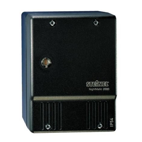 STEINEL 550318 - Soumrakový spínač NightMatic 2000 černá IP54
