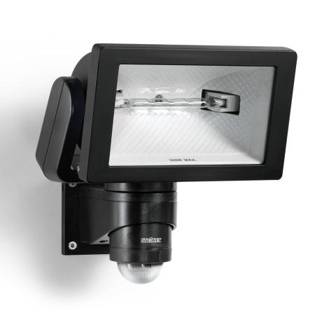 STEINEL 633219 - HS 300 DUO černý senzorový reflektor pro venkovní použití