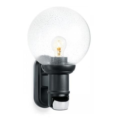 STEINEL 634216 - L 560 S černá senzorová nástěnná lampa pro venkovní prostory