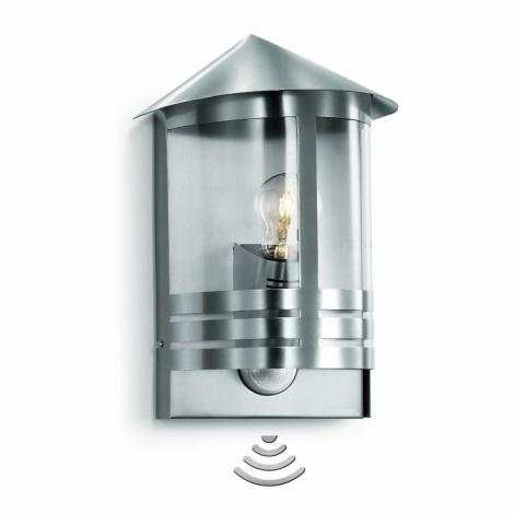 STEINEL 645311 - Nástěnná lampa se senzorem L 170 S nerez ocel