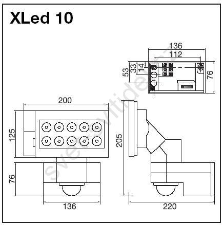 steinel 654511 led senzorov reflektor xled 10 ern. Black Bedroom Furniture Sets. Home Design Ideas