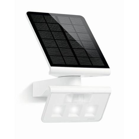 STEINEL 671006 - Solární senzorový LED-reflektor XSolar L-S 0,5W/LED bílá