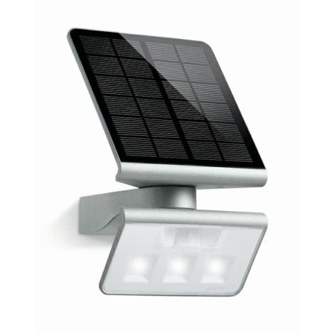 STEINEL 671013 - Solární senzorový LED-reflektor XSolar L-S 0,5W/LED stříbrná