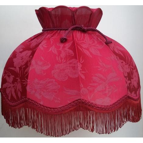 Stínidlo textilní HORTENZIA  bordo - květ