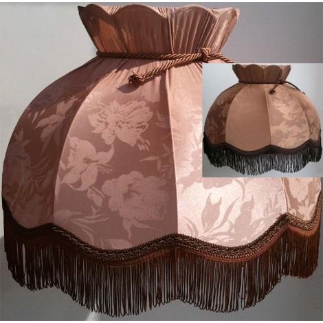 Stínidlo textilní HORTENZIA  kakao - květ