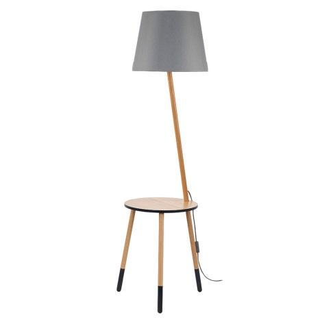Stojací lampa LAMA 1xE27/60W/230V šedá